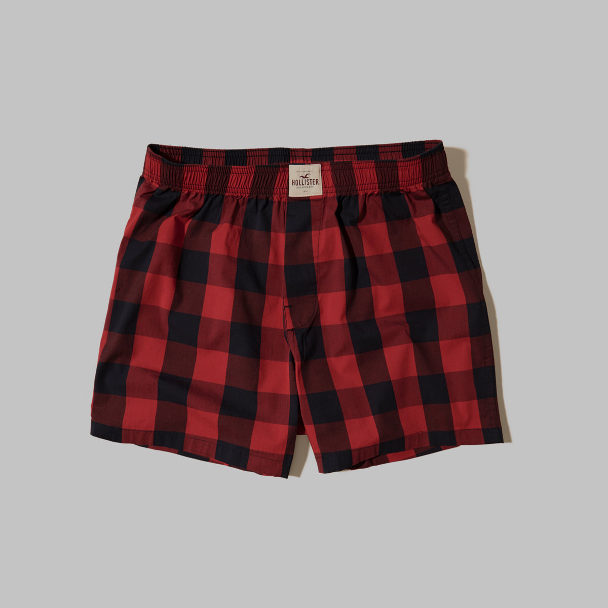 Hollister Plaid Woven Boxers