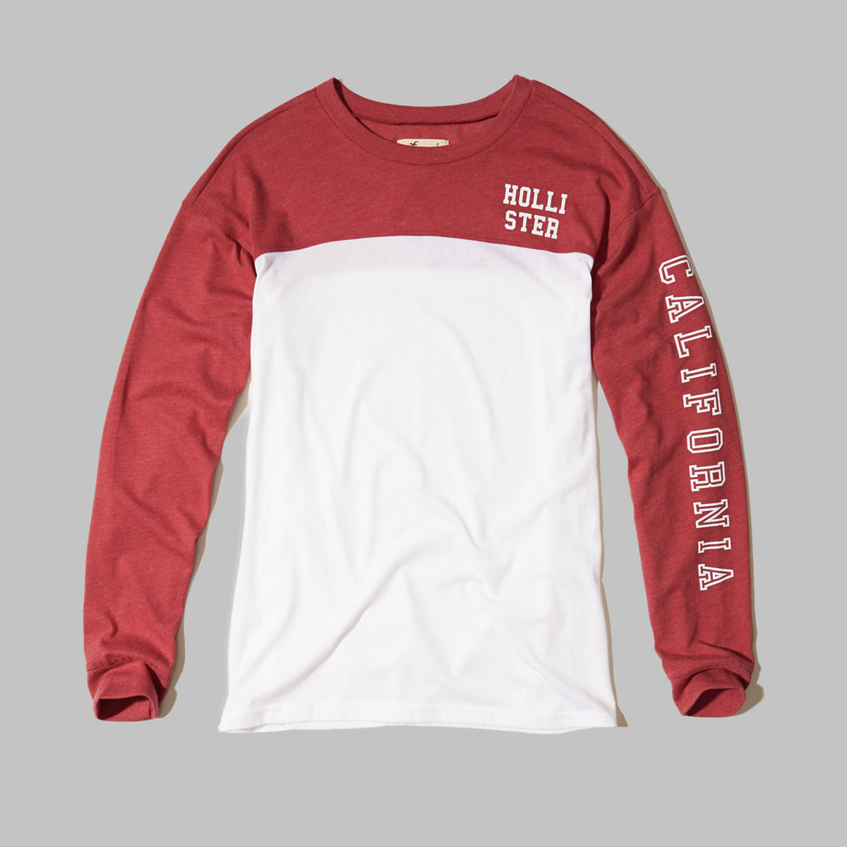 Long-Sleeve Colorblock Graphic Tee