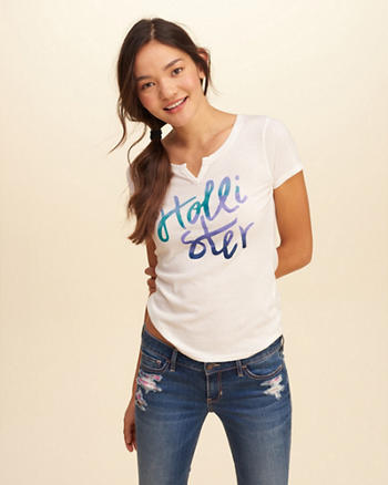 Notch-Front Slim Graphic Tee