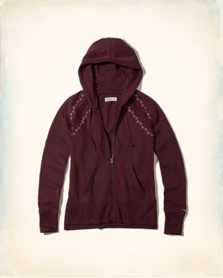 Embroidered Fleece Hoodie