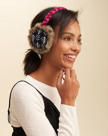 Faux Fur Trim Earmuff