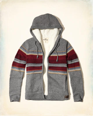 Sherpa Lined Hooded Sweater