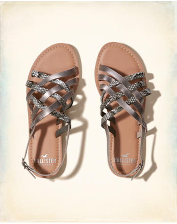hol Mixed Strap Weave Sandal