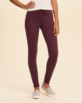 Hollister Embroidered Fleece Legging