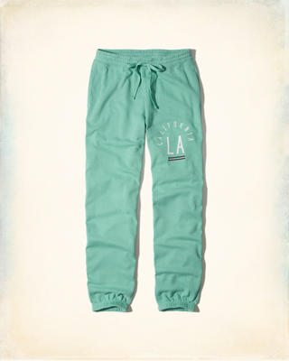 Hollister Logo Graphic Banded Boyfriend Sweatpants