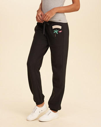 Hollister Patch Banded Sweatpants
