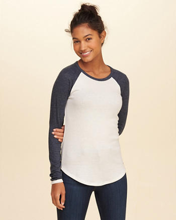 Must-Have Ribbed Raglan T-Shirt