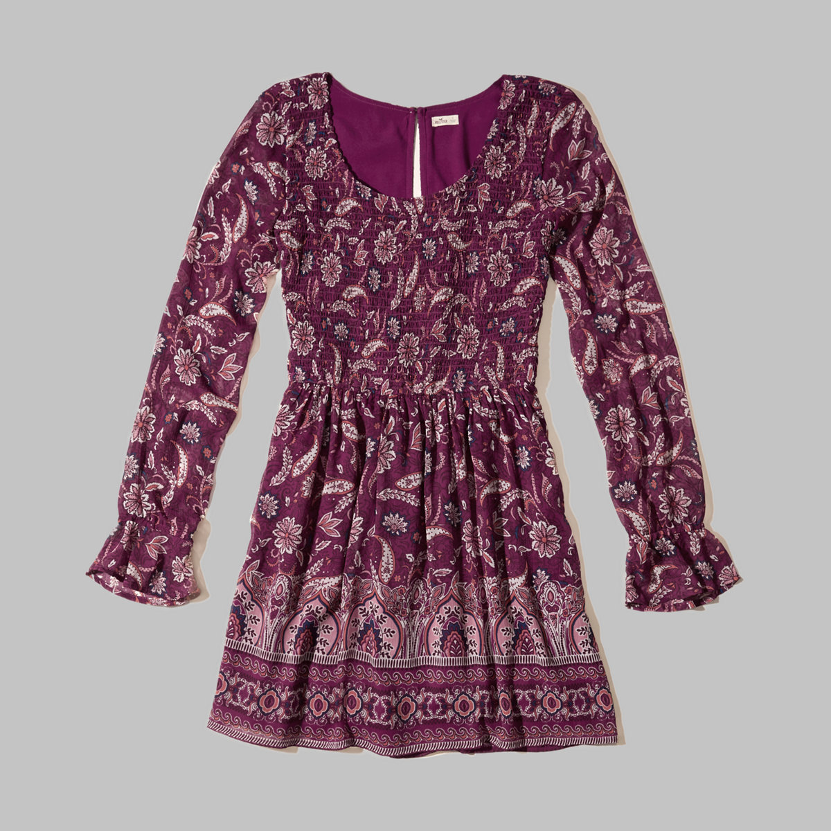Smocked Bodice Chiffon Dress