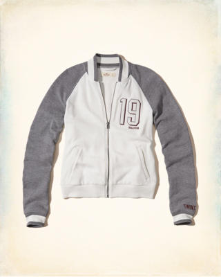 Fleece Varsity Bomber Jacket