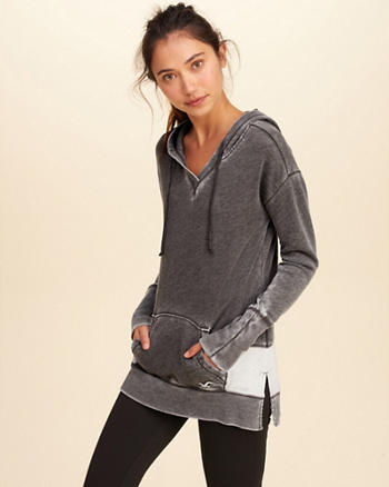 Hollister Cali Sport Colorblock Burnout Hoodie