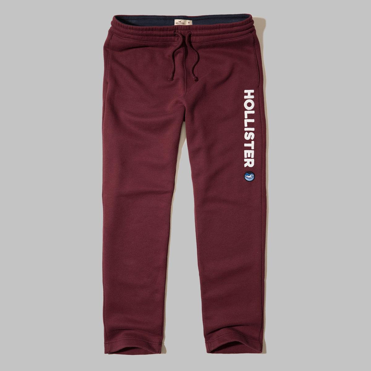 Hollister Straight-Leg Graphic Sweatpants