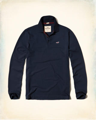 Long-Sleeve Stretch Pique Polo