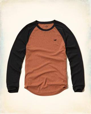 Textured Colorblock Raglan T-Shirt
