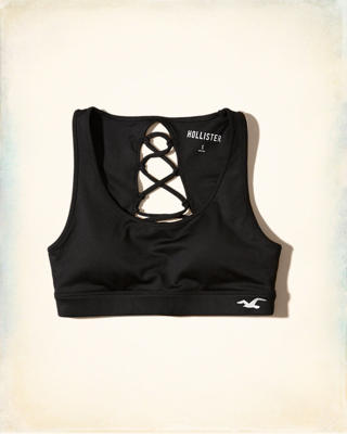 Hollister Cali Sport Strappy Scoop Sports Bra