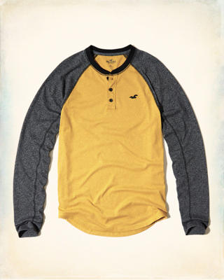 Colorblock Jersey Henley