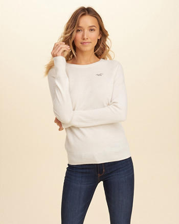 Wool-Cashmere Crew Sweater
