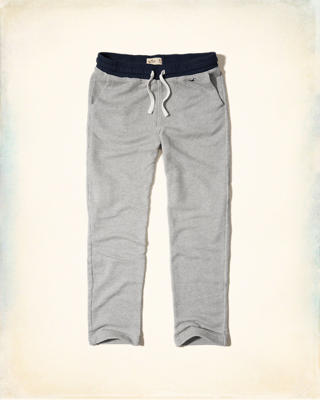 Hollister Straight-Leg Contrast Sweatpants