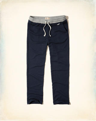 Hollister Contrast Straight-Leg Sweatpants