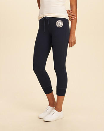 Hollister Graphic Crop Fleece Leggings