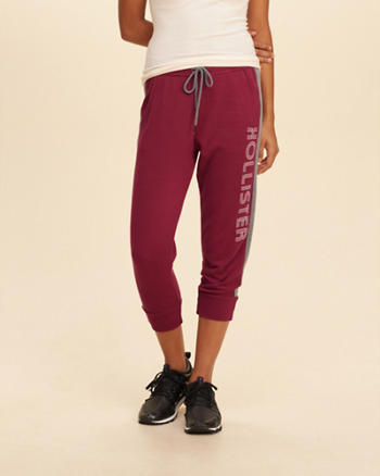 Graphic Crop Fleece Joggers