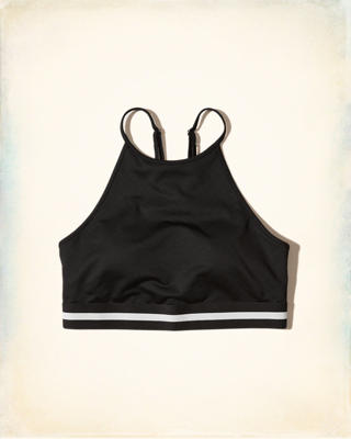 Hollister Cali Sport High Neck Strappy Sports Bra