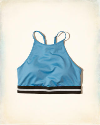 Hollister Cali Sport Strappy High-Neck Sports Bra