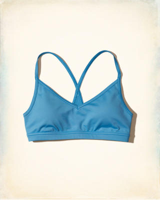 Hollister Cali Sport Strappy V-Neck Sports Bra