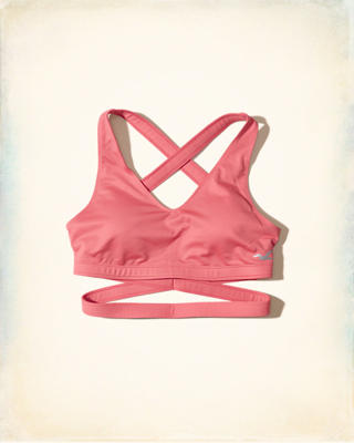 Hollister Cali Sport Wrap Sports Bra