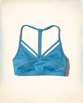 Hollister Cali Sport Strappy T-Back Sports Bra