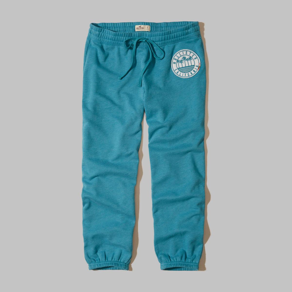 Graphic Crop Banded Sweatpants