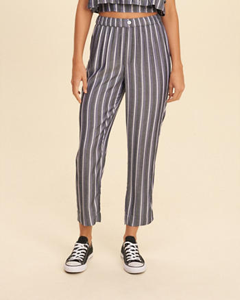 High Rise Culotte Pants