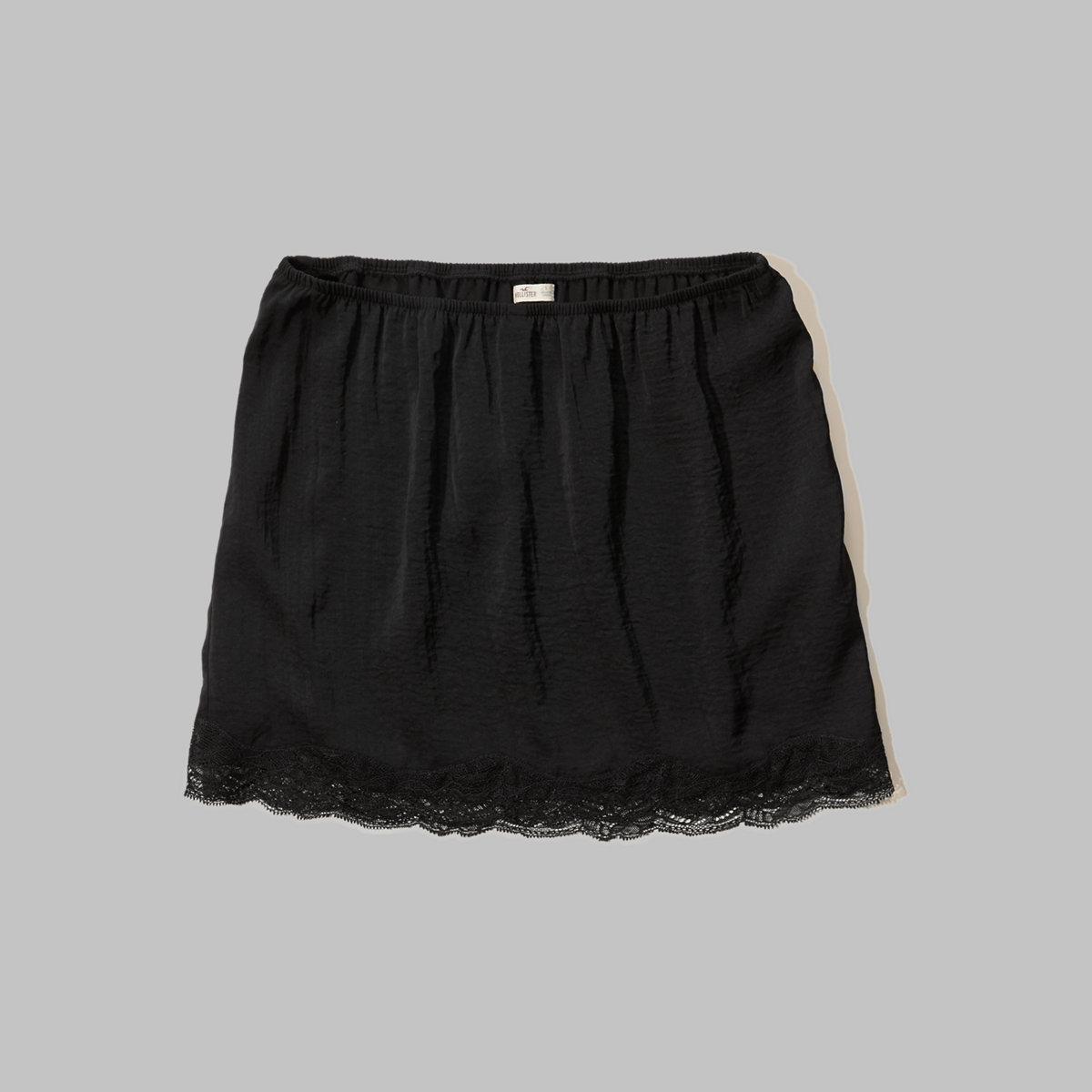 Lace Hem Slip Skirt