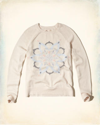 Embroidered Graphic Crew Sweater