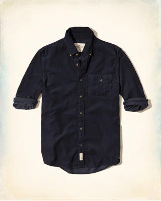 Button-Front Corduroy Shirt