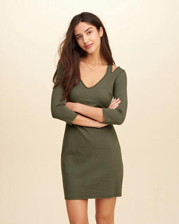Cutout Ponte Bodycon Dress