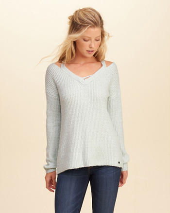 Cutout V-Neck Sweater