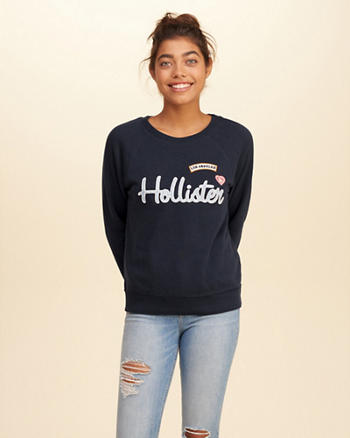 Patch Crew Sweatshirt