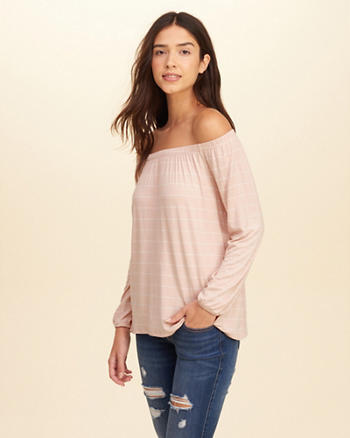Jersey Off-The-Shoulder Top