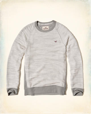 Textured Crew Sweatshirt