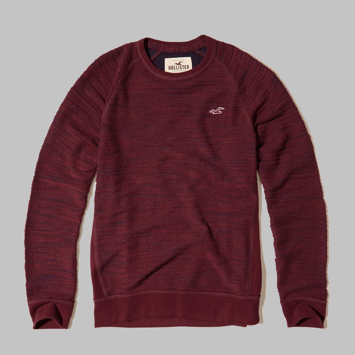 Textured Crew Sweatshirt