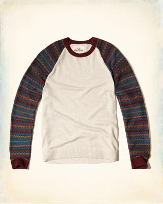 Patterned Raglan Sweater