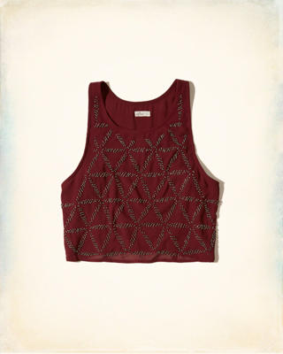 Hollister + Sydney Sierota Embellished High-Neck Tank