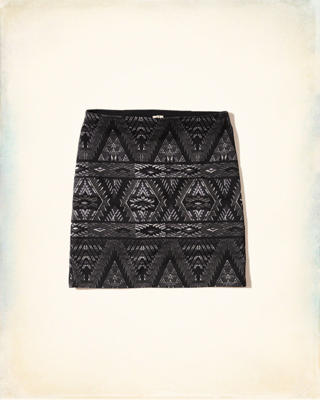 Patterned Ponte Bodycon Skirt
