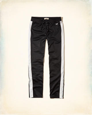 Side-Snap Graphic Track Pant