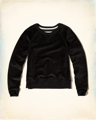 Velour Crew Sweatshirt