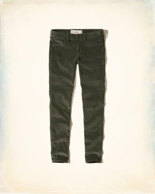 Hollister Low-Rise Super Skinny Velvet Pants