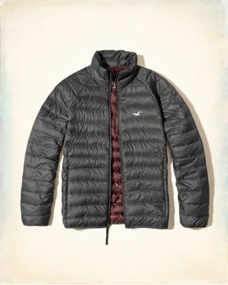 Lightweight Down Mock Neck Puffer Jacket
