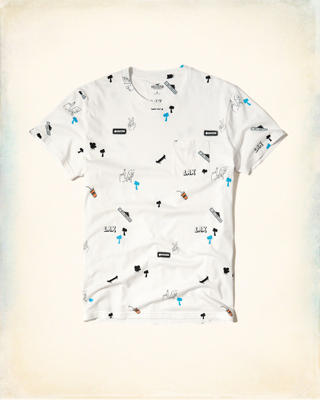 Allover Printed Graphic Tee
