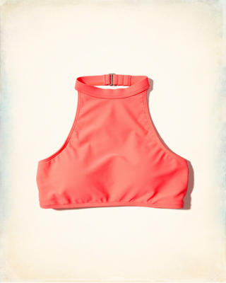 High-Neck Swim Top