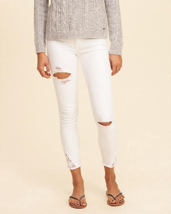 Hollister Low-Rise Crop Super Skinny Jeans
